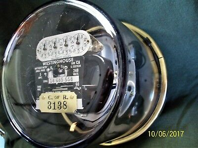 Westinghouse Type CA Meter, 5 amp, 240 volt, Circa Late 1940's