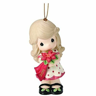 Precious Moments Ornament Wishing You A Beautiful Christmas 2016 Bisque #161002
