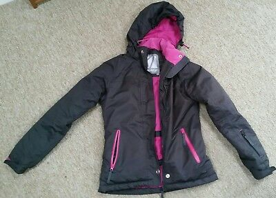 Ladies ski jacket size 8 - perfect condition, black and pink