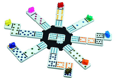 Mexican Train Dominoes in Alum Case