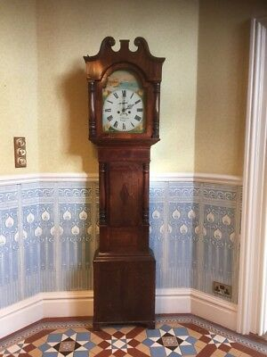 "Mahogany Long Case ""grandfather"" Clock J. Lehman Swansea. Mahogany, Working"