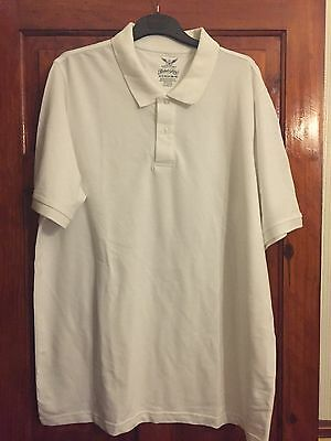 Mens Faded Glory Short Sleeve Size XL White Polo Shirt.