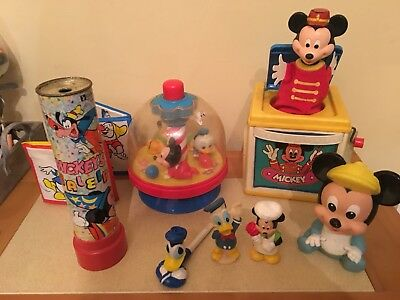Vintage Mickey Mouse Toy Bundle