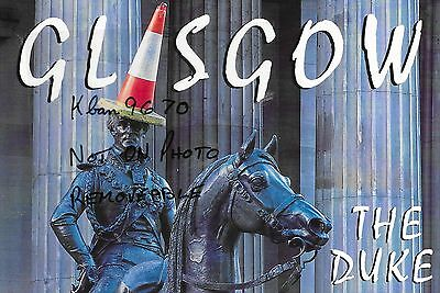 Large NEW Glasgow Postcard - Duke of Wellington with traffic cone on head *99p*