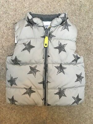 NEXT Boys Gilet Body-Warmer Coat Grey Stars  *excellent condition* 3-6 Months