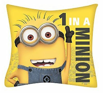 Despicable Me Minions '1 In A Minion' Cushion Pillow Kids Bedroom Accessories