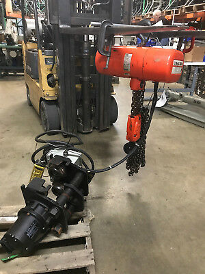 USED CM 3Ton 3 Phase Lodestar Electric Chain Hoist&Railstar Motor Driven Trolley