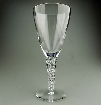 Vintage Air Twist Glass : Good sized Wine Glass prob Stuart  8 Available C.20thC