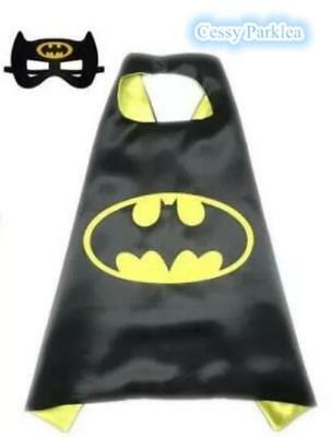 Kids Teenage Adults Batman Bat-Girl Cape&Mask Superhero Costume Accessory