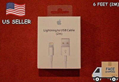 New Apple iPhone 8 7 6s 6plus 5s 5SE USB Lighting Charging Cable 2M 6feet