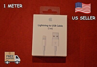 New Apple iPhone 8 7 6s 6plus 5s 5SE USB Lighting Charging Cable 1M 1feet