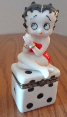 1998 Betty Boop Die Trinket Box with 2 Tiny Dice Inside - VGC