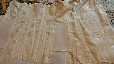 Vintage Lace Up Corset Peach In Color Early To Mid 1900's