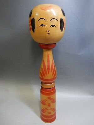 Unique Japanese traditional Long Neck Stylish Kokeshi Wooden Doll H37.5cm 14.7""