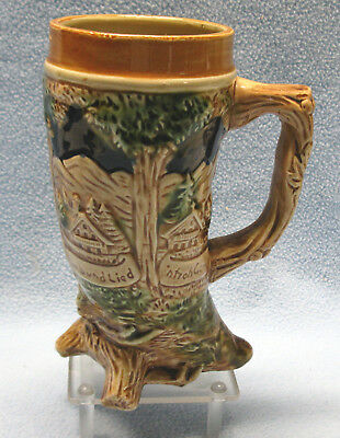 Ceramic Footed Horn Shaped Beer Stein Japan Lieb und Lied, Love and Song
