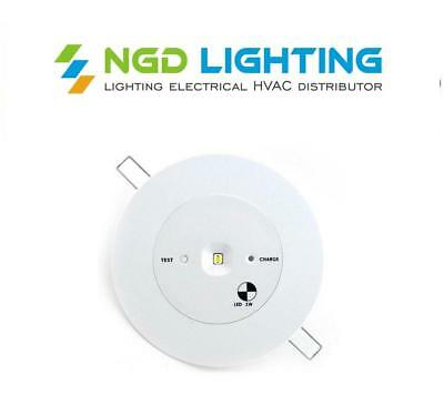 2W LED Emergency Spitfire Downlight Recessed Light Commercial Lighting