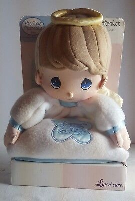 New Precious Moments ~Plush  Security Snuggle Blanket ~ Boy Angel ~  Ships Free!