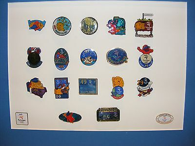 Olympic Pin Sleeps To Go  Set 17 Pins Compleat Set