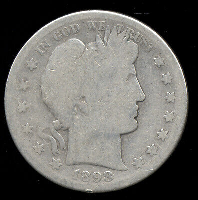 1898-S  ...  Better Date  ...  Barber Half Dollar Silver (441-112)