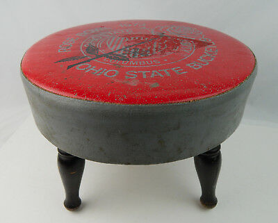 "Vintage 1973 Rose Bowl Ohio State Buckeyes Foot Stool 10"" tall pre-owned"