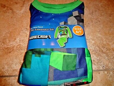 NIP Minecraft Boys PJs Pajamas Creeper Spider S M L XL 6/7 8 10/12 14/16