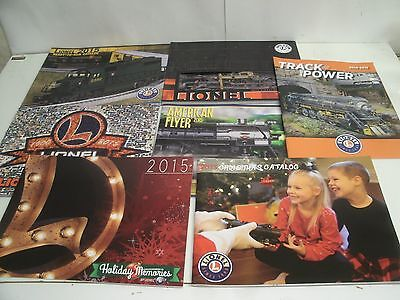 (7) 2015 LIONEL TRAINS CATALOGS Signature Ed., Vol 2 , Ready to Run, AF, XMAS