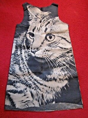 Vtg 1968 HARRY GORDON Paper Poster Dress THE CAT 60s Mod Fashion Pop Art~Unworn