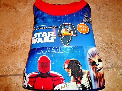 NIP Star Wars Boys Last Jedi PJs Pajamas Elite Executioner M L XL 8 10/12 14/16