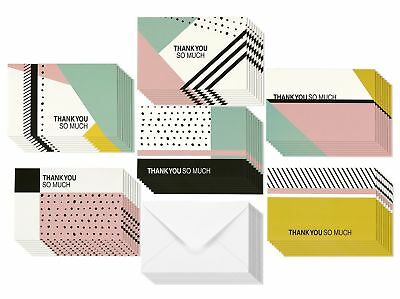 48 Assorted Pack Thank You Note Cards for Her - Bulk Box Set - Blank on the I...