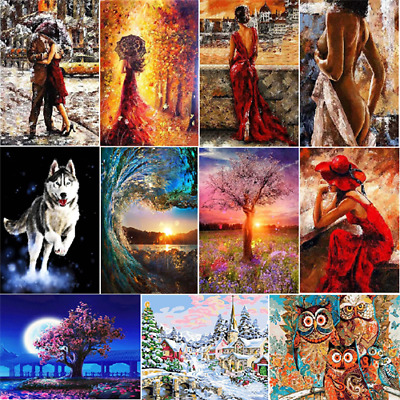 Couple Women Digital Oil Painting DIY Oil Painting By Numbers Kit Frameless New