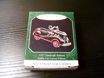 1998 Miniature Hallmark Ornament First Kiddie Car Luxury Edition Series