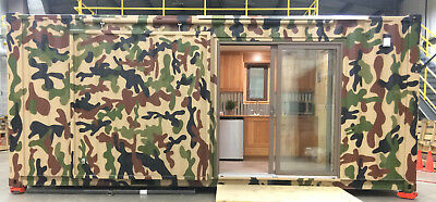 Hunting Cabin Camo Shipping Container 160 Sq Ft