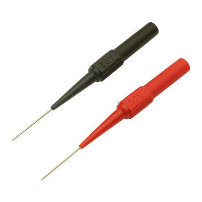 2pcs 1mm Insulation Piercing Needle Error Test Probes Tools Non-Damage Red/Black