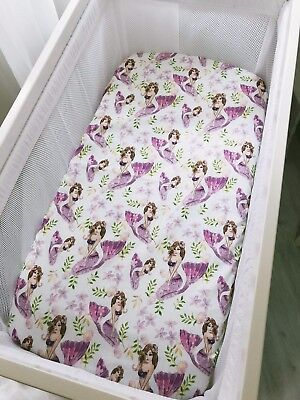 Pretty Purple Mermaids Bassinet Fitted Sheet