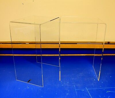 "2 Tall Acrylic Display Risers 12.75"" x 9.5"" x 18.25"" High - Made In USA"