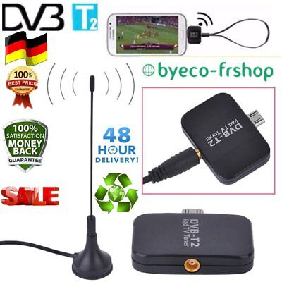 DVB-T2 Empfänger Micro USB Tuner TV Receiver Stick Android OS 4.1 Antenne  rd