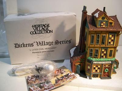 Dept 56 Dickens Village J. LYTES COAL MERCHANT #58323 MIB Lighted Early Oldie