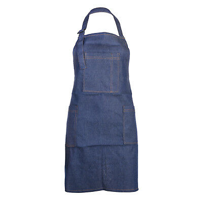 Denim Apron with Pockets for Art Painting, Home Cooking, Restaurant Chef,Cooking