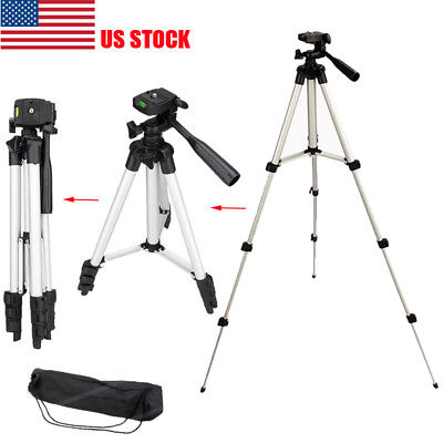 Professional Camera Tripod Stand Holder Mount for iPhone Samsung Cell Phone US