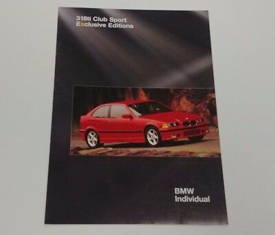 BMW 3 SERIES E36 318ti CLUB SPORT EXCLUSIVE EDITIONS INDIVIDUAL COUPE HATCH