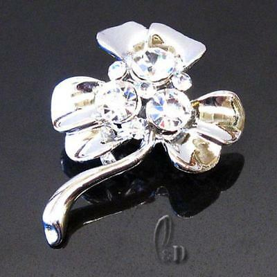 AU SELLER Lovely Small Flower Pin/Brooch Made With Swarovski Crystal br001-20