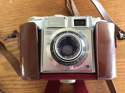 Vintage Zeiss Ikon Camera, Contina Prontor-SVS, With Leather Case, Germany