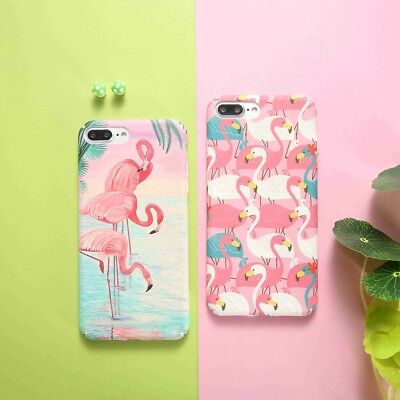 Flamingo Slim Shockproof Pattern Hard PC Phone Case Cover For iPhone X 6 7 7Plus