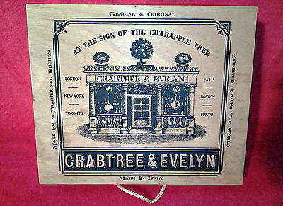 Vintage 1980's Crabtree and Evelyn Wooden Hinged Tea Biscuit Box