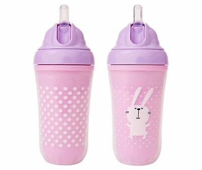 Cheeky® Baby Straw Cup - Bunny -2ct