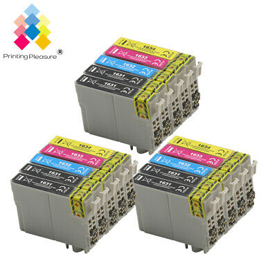 15 Ink Cartridges (Set + Bk) for Epson Workforce WF-2520NF WF-2630WF WF-2750DWF