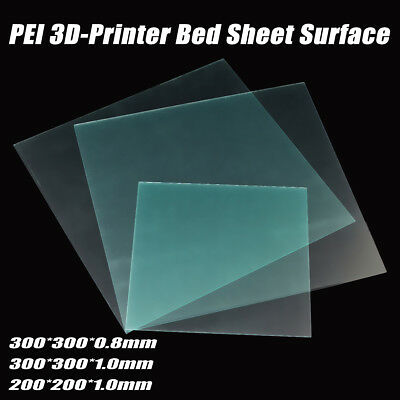 PEI Polyetherimide 3D Printer Bed Sheet Surface 200/300mm 0.8/1.0mm for PLA ABS