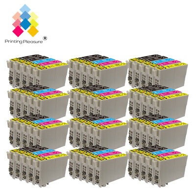 60 Ink Cartridges (Set + Bk) for Epson Workforce WF-2520NF WF-2630WF WF-2750DWF