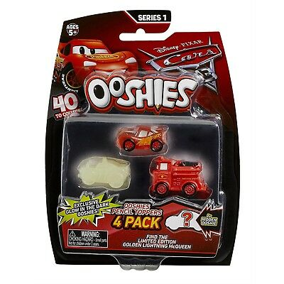 Ooshies - Cars 3 - 4er Pack