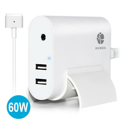 AC 60W T-Tip Power Adapter Charger+Power Cable for Macbook Pro A1436 A1465 A1466